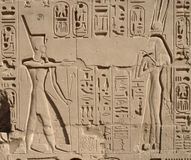 Relief at Precinct of Amun-Re Royalty Free Stock Photos