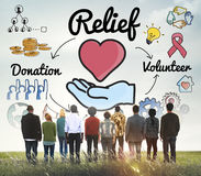Relief Relaxation Charity Assistance Support Giving Concept Stock Photos