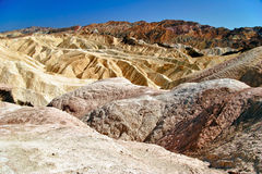 Relief of the rocks in Death Valley Royalty Free Stock Image
