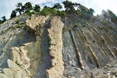 Relief of  rocks on seashore Stock Photography