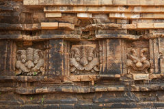Relief and ruin of Hindu Temples at My Son in Vietnam Stock Images