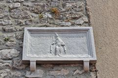 Relief of Saint Quirinus in the town of Krk on the island of Krk Royalty Free Stock Photo