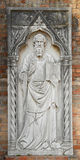 Relief of a Saint. Religion in the island of Torcello, near Venice Royalty Free Stock Images
