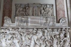 Relief sculpture of battle scene in the Vatican Museum Stock Image
