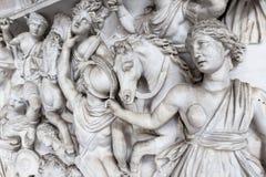 Relief sculpture of battle scene in the Vatican Museum Stock Photography