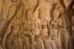 Relief sculpture,India Royalty Free Stock Photos