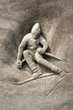 Relief of skier Stock Photos