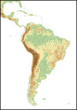 Relief Of South America. Stock Photos