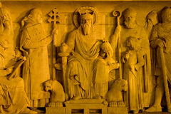Relief of st. Stephen from Budapest Stock Photos