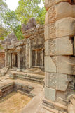 Relief on stone of Ta Prohm temple, Angkor Thom, Siem Reap, Cambodia. Royalty Free Stock Photos