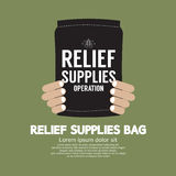 Relief Supplies Bag. Vector Illustration Stock Photos