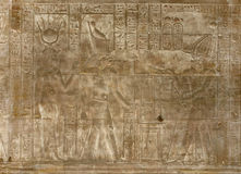 Relief at the Temple of Edfu Royalty Free Stock Photo