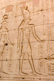 Relief of the temple of Horus Stock Photos