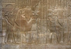 Relief at the Temple of Kom Ombo Stock Photos