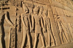 Relief in Temple of Kom Ombo Stock Photography
