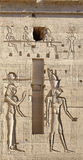 Relief at the Temple of Philae in Egypt Royalty Free Stock Photo
