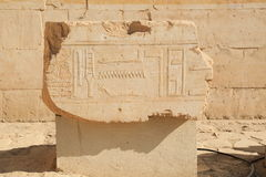 Relief in the Temple of Queen Hatshepsut Royalty Free Stock Images