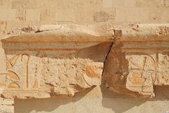 Relief in the Temple of Queen Hatshepsut Royalty Free Stock Photography