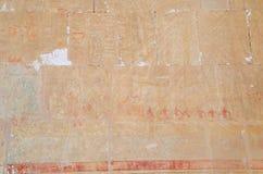 Relief in the Temple of Queen Hatshepsut Stock Photo