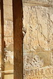 Relief in the Temple of Queen Hatshepsut Royalty Free Stock Photo