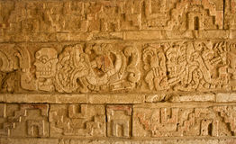 Relief in Tula, Mesoamerican archaeological site, Mexico. Relief in Tula, Mesoamerican archaeological site. Mexico royalty free stock photos