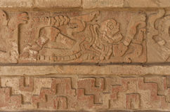Relief in Tula, Mesoamerican archaeological site. Mexico Stock Photo