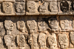 Relief at the Tzompantli Royalty Free Stock Photo