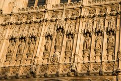 Relief of Victoria Tower in London Stock Photography
