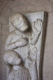 Relief at Villa Cimbrone in Ravello on the Amalfi Coast Stock Images