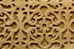 Relief wall carving background Stock Images