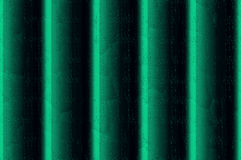 Relief wall - emerald. Abstract background. Decorative vertical striped shiny relief wall Royalty Free Stock Photo