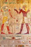 Relief on the wall of Queen Hatshepsut Temple Royalty Free Stock Photography