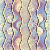 Relief waves of ornamental mosaic tile patterns Stock Image