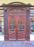Relief wooden door Stock Photography