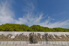 Relief works in Canakkale martyr memorial. stock photography