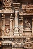 Reliefes de Bas no templo Hindu Fotografia de Stock Royalty Free