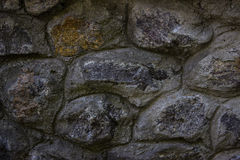 Reliefowa kamienna ściana Zdjęcia Royalty Free