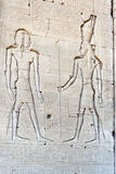 Reliefowy wizerunek na ścianie antyczna świątynia Zdjęcia Royalty Free