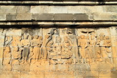 Reliefs on Borobudur Royalty Free Stock Photo