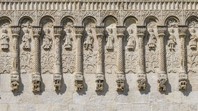 Reliefs of Demetrius Cathedral Vladimir. royalty free stock photo
