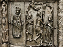 Reliefs on the gate of St. Sophia Cathedral Stock Photos