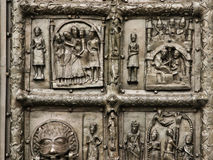 Reliefs on the gate of St. Sophia Cathedral Royalty Free Stock Photos