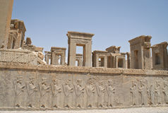 Reliefs in Persepolis Stock Images