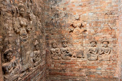 Reliefs at Prasat Kravan in Cambodia Stock Photos