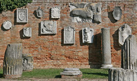 Reliefs in Torcello Royalty Free Stock Photo