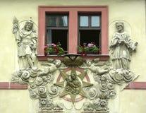 reliefy okno Zdjęcie Stock
