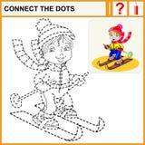 0116_48 relient les points Image stock