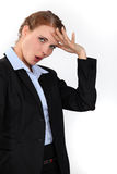 Relieved businesswoman Royalty Free Stock Image