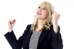 Relieved Young Business Woman Stock Images