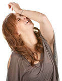 Relieved Young Woman Stock Photography